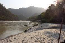 on the banks of river ganga