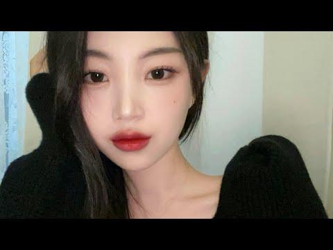 No Advertisement Espoir One Brand Makeup ♥️ Assembly/New Palette |  Black hair + red lip makeup |  Hana
