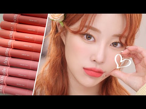 [ENG] Waiting for spring 🌻 Warm tone Cool tone Perfect boundary⚡️ Mamonde Tint Review(๑˙❥˙๑)ㅣMINCARONG