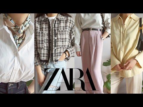Zarahowl |  Spring new recommended/not recommended 💚 Shirt, knit, scarf, slacks, jacket ZARA 2021 S/S HAUL