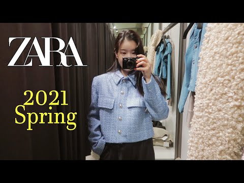 2021 ZARA S/S Spring New 🐚 Zara Try on 17 items • Spring Outfit |  Zara Statue |  Jara Look Book |  Seasonal Coordination |  Spring Look Book |  Spring fashion |  Opening Look / Amelie