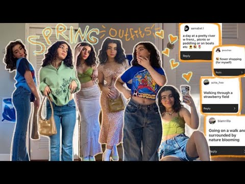 SPRING OUTFIT IDEAS ft. your theme suggestions! spring 2021 outfit lookbook