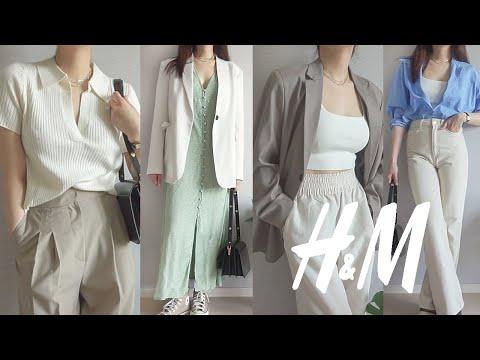 H&M Howl |  Spring new recommendation/deprecation 💚 Honorable!!  Knit, wide pants, denim, dress, shirt H&M 2021 SPRING HAUL