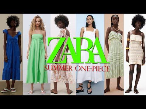 ZARA夏季新连衣裙   Zara最喜欢的身高是172和56。我40多岁的姐姐介绍了14件夏装。  Zara一家餐厅〜🙂