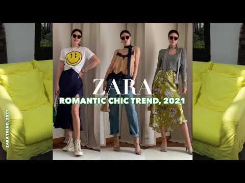 【ZARA】ザラ2021パリ旅行ファッション3編、ロマンチックシック。 春身上ハウル/ Tシャツ/サテンドレス/レーストップ/ストレートデニム/ニット/スカートセールシステムスタイリングコーディネート推薦