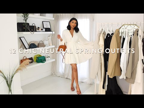 12 CLASSY CHIC NEUTRAL SPRING OUTFITS   SPRING OUTFIT IDEAS LOOKBOOK 2021  NOORIE ANA