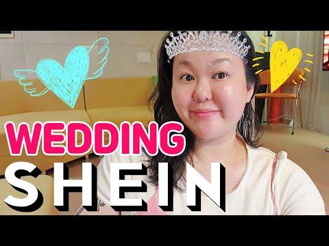 👰🏻♀SHEIN wedding shopping👰🏻♀    🎀Actually, Shein was a one-piece restaurant🎀    Self wedding, wedding photography, wedding dress, summer dress, big size dress