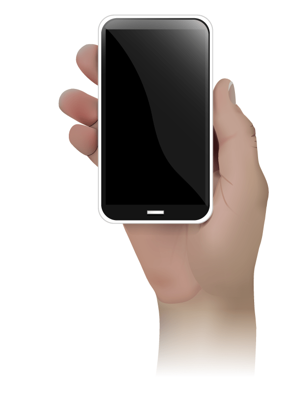 A Hand And Its Phone Vector Illustration