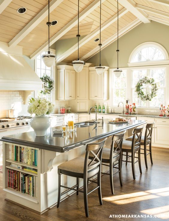 Gorgeous Kitchen with Vaulted Ceilings  kitchen decorating ideas vaulted ceiling…