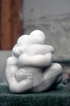 sculpture Rencontre - homme -femme