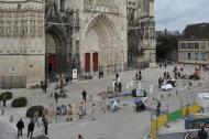 Parvis de la Cathédrale de Troyes - quartier du bouchon