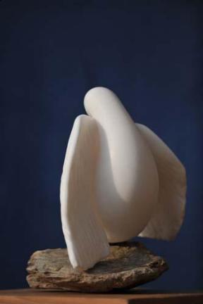 colombe en Albâtre - oiseau symbolisant la paix - Dominique Rivaux