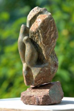 sculpture des oiseaux En Famille de Dominique Rivaux