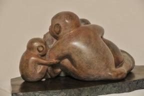 sculpture de singes de Dominique Rivaux