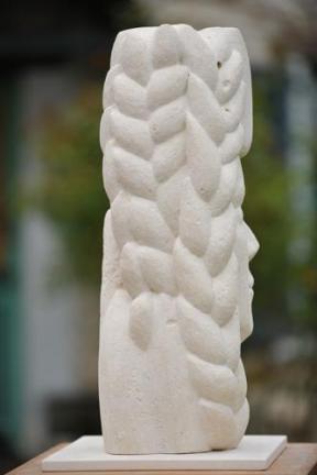 sculpture symbolisant les saisons - blé - moisson - prospérité - Dominique Rivaux