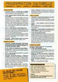 Programme Salon d'Automne - Champs Elysées - Paris - Mercredi 12 octobre 2016 de 18h à 22h ouvert du jeudi 13 au 16 octobre 2016 de 11h à 19h