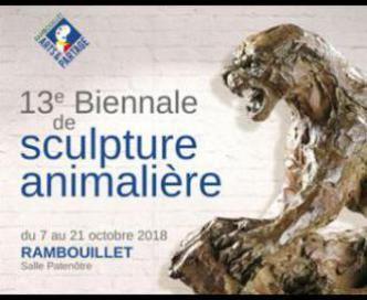 Affiche expo Rambouillet 13e Biennale de Sculpture Animalière