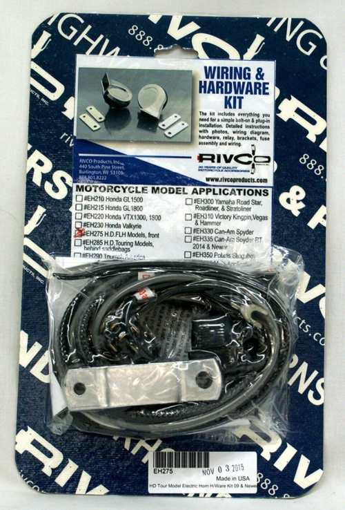 small resolution of harley electric horn wiring kit for flh models