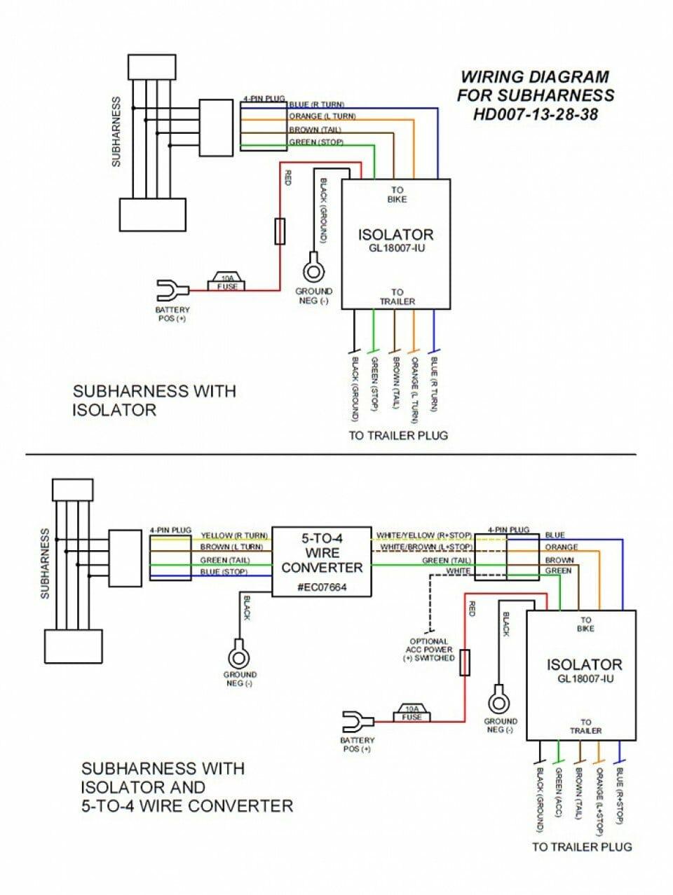 medium resolution of eight pin molex plug n play motorcycle trailer wiring sub harness