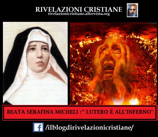 visione della beata maria serafina micheli di lutero all'inferno