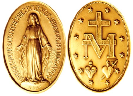Medaglia Miracolosa Santa Caterina Lobouré Rue du Bac Parigi