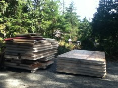 Piles of heavy lifting just waiting for the guys to arrive...