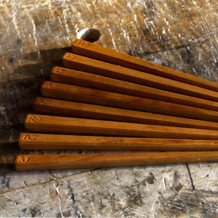 Hand-carved chopsticks from RivenJoiner.com.