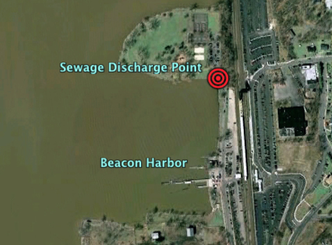 Beacon discharge sewage spill map