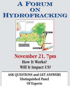 Hydrofracking event flyer