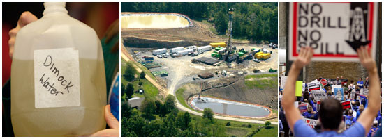 gas drilling photos graphic