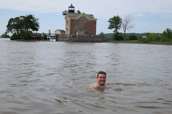 greg O'Mullan swimming in the Hudson