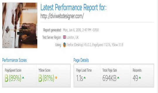 wordpress-website-optimization-improved-gt-metrix-score