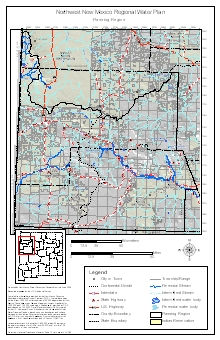 Northwest New Mexico Water Region Maps