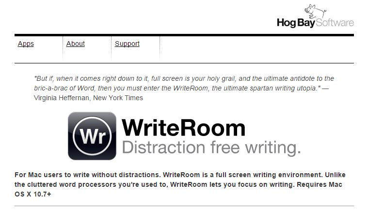 writeroom app for writers