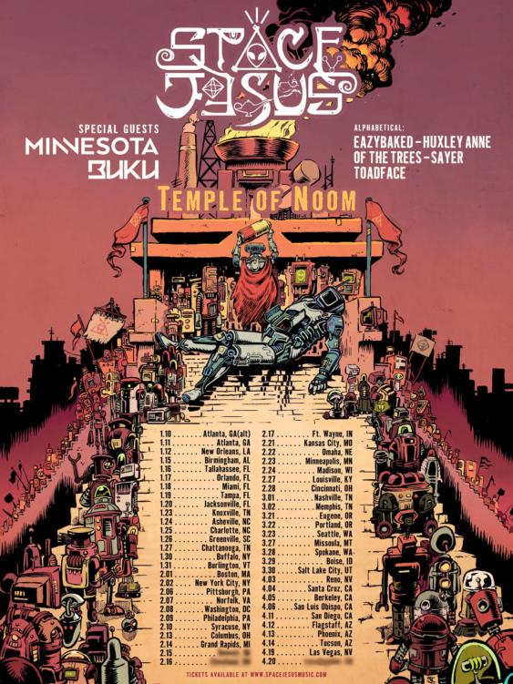 Do Not Miss Space Jesus and Friends on the Temple of Noom Tour