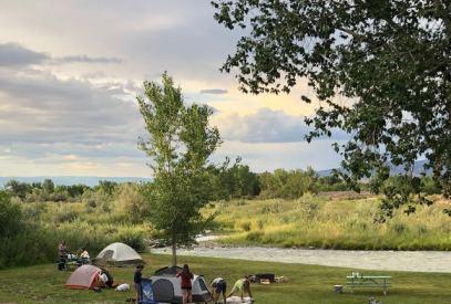 Riverfront tent area