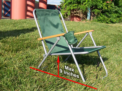 low back lawn chair small upholstered rules prohibited items max size