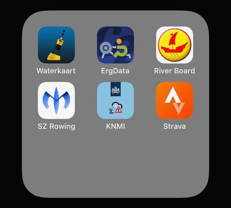 Welke apps gebruik jij bij het roeien?