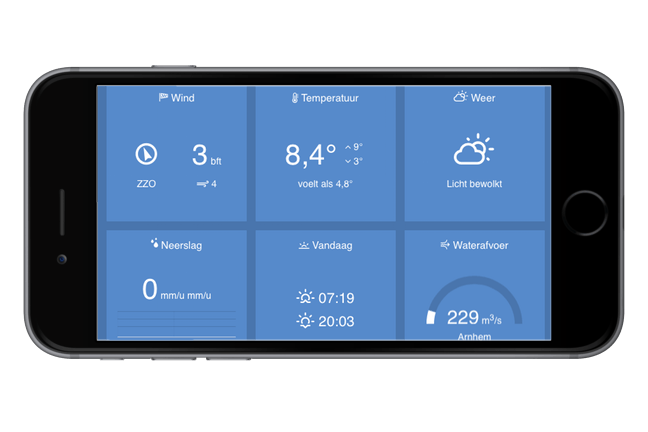 River Board roei-app op de smartphone