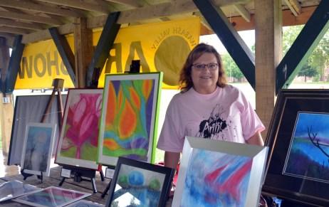 Gloria Schopper, soft and oil pastels