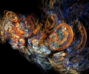 Bubbles, fractal flame by Spencer Young