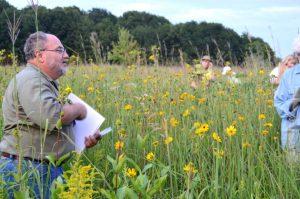 Naturalist Craig Elston at Hudsonville Prairie