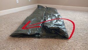 Step 2 folding backpacking tent