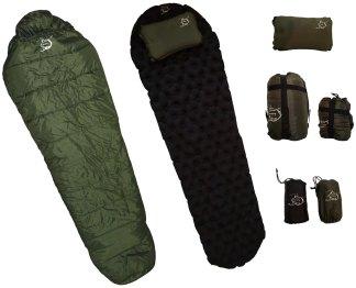 Sleeping Bag, Sleeping Pad, Pillow, combo pack