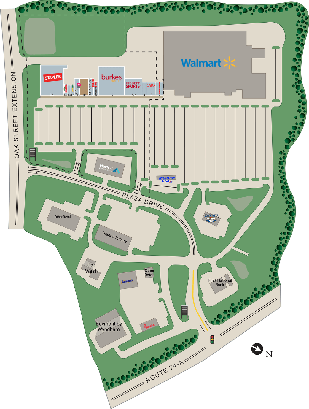 Forest City Nc Hillside Plaza  Retail Space For Lease