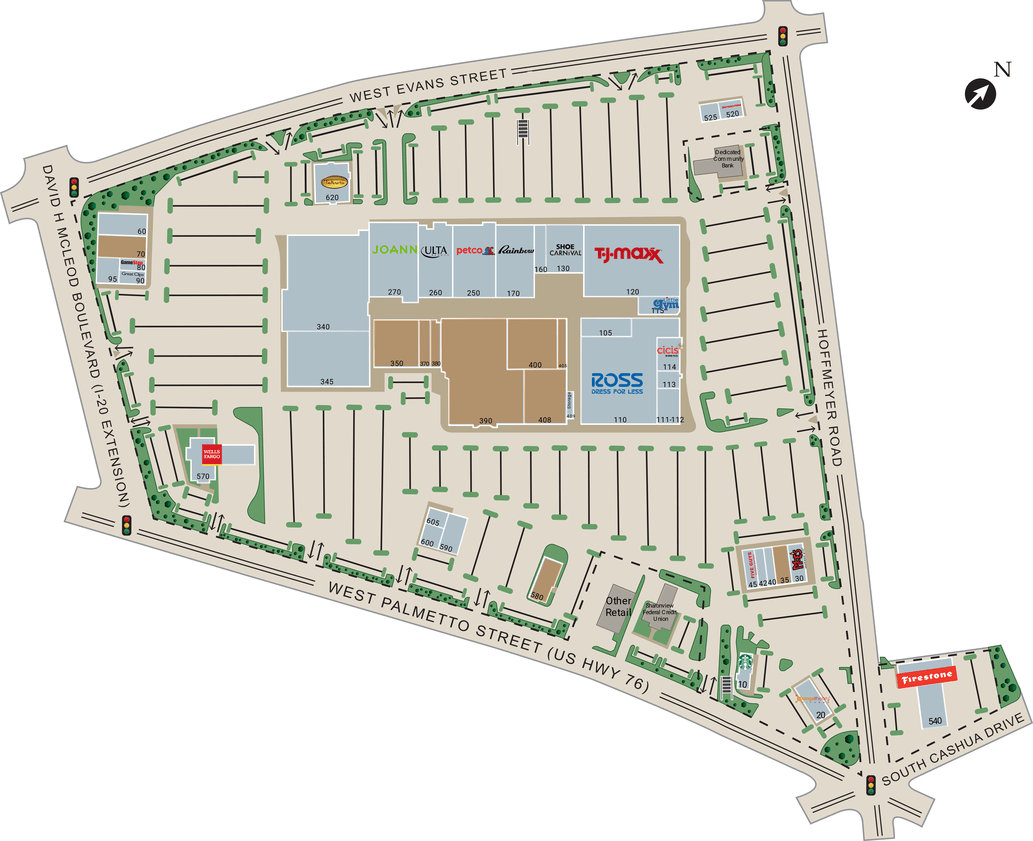 Florence Sc Florence Mall  Retail Space For Lease