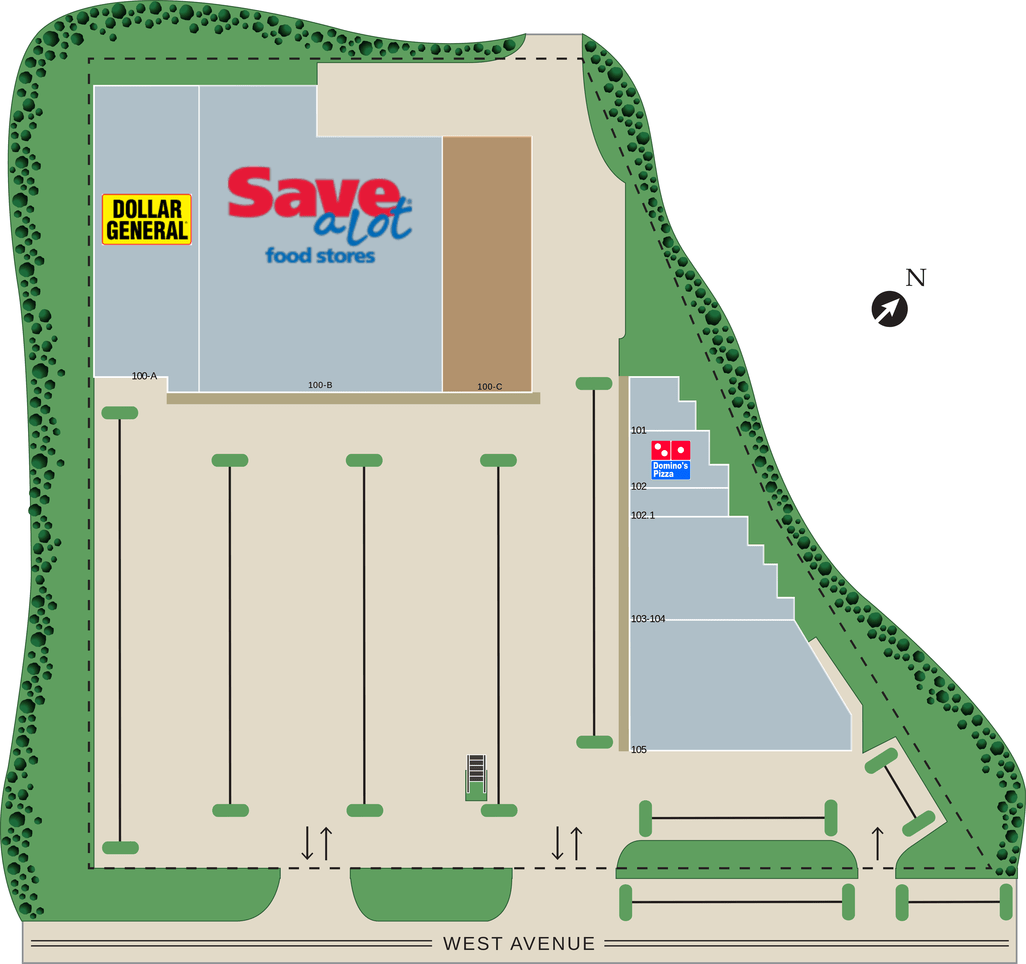 Canandaigua Ny West Avenue Plaza  Retail Space For Lease