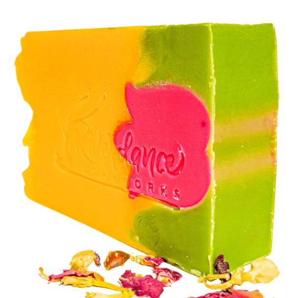 side image of tulip soap