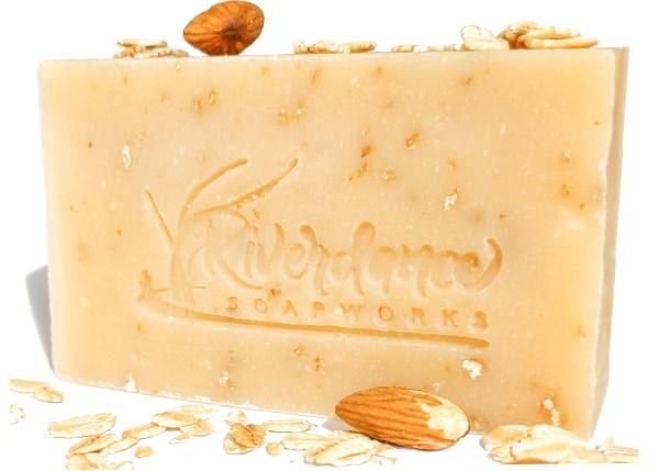 almond oatmeal goat milk soap