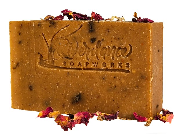 side image of cocoa rose soap